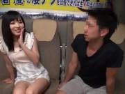 ロリ系AV嬢の美少女×麻倉憂チャンの凄テクに10分耐えたら生で中出しOK企画☆